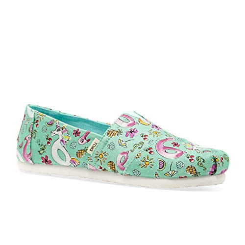TOMS Mint Poolside Floaties Print Youth Classics Slip-On Shoes (3 US Little Kid) -