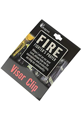Dicksons Firefighters Prayer Visor Clip 3-1//8 x 3-7//8 Inches Pewter