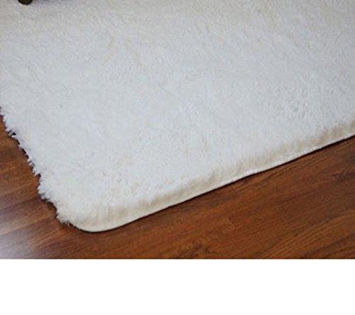 College Plush Rug - White - 4' x 6' (College Rugs)