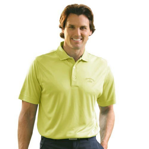 Monterey Club Mens Dry Swing Window Dot Texture Shirt #1074 (Limeade, Small) (Limeade Dot)