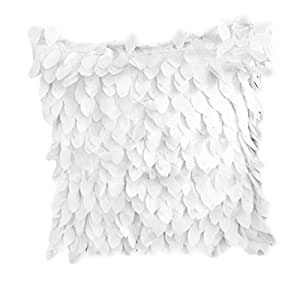 Fallen Leaves Feather Couch Cushion Cover Home Sofa Throw Pillow Case White