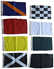 """Brass Blessing Nascar Flag - Set of 8 Racing Nascar Flags - 100% Cotton - 14"""" X 18"""" - Sports F"""