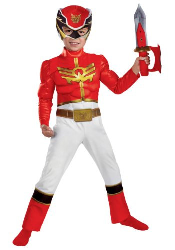 Power Rangers Samurai Ranger Costume - Red - Samurai Ranger Costume