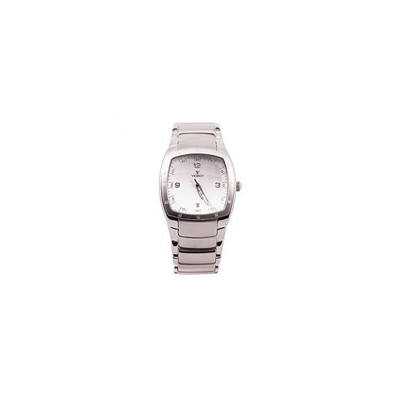 Viceroy Reloj analogico para Hombre de Cuarzo con Correa en Acero Inoxidable 43371-84: Amazon.es: Relojes