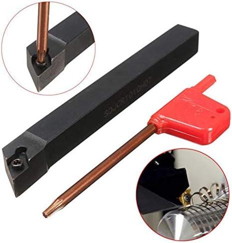 Lathe Carbide-Spitze Lathe Bohrstange Drehwerkzeughalter for DCMT0702 Insert 10x100mm SDJCR1010H07 Drehwerkzeughalter