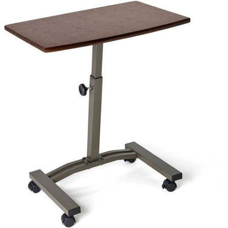 Cherry Mobile Computer Cart - Seville Classics Mobile Laptop Desk Cart, Rich Cherry, Model# WEB162