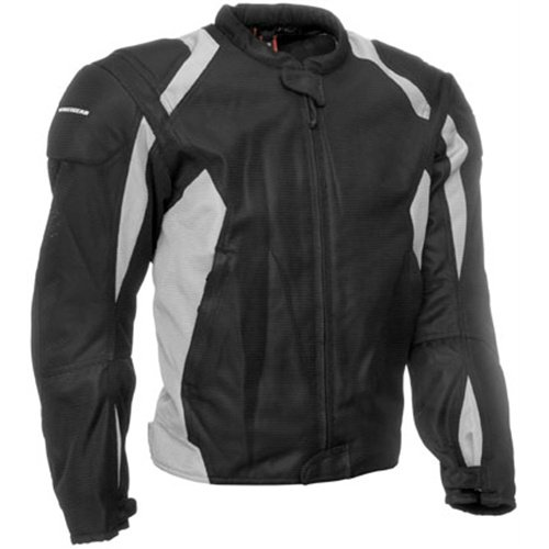 Firstgear Mesh Tex Jacket, Black/Silver, Gender: Womens, Apparel Material: Textile, Size: Md FTJ.1012.01.W002