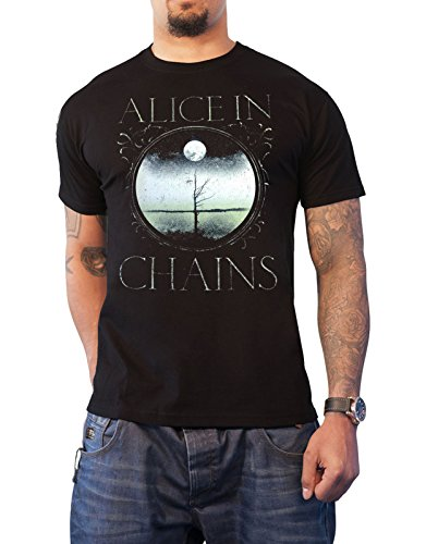 Alice In Chains T Shirt Moon Tree Band Logo Official Mens Black