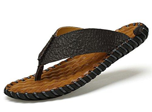 2017piel hombres playa Zapatillas moda sandalias con suela blanda Trendy transpirable fácil de combinar Hombres Zapatos de Verano 2