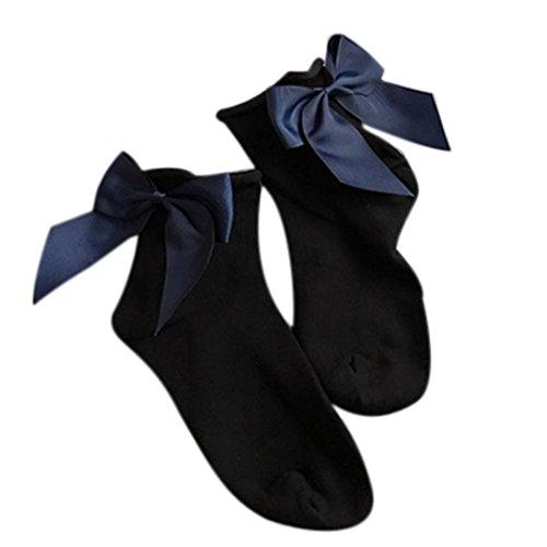 Calze Da Donna, Calze Di Cotone Alla Caviglia Stile Bambina Inkach Con Fiocco H