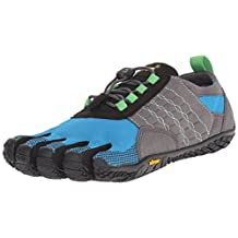 Vibram Women's Trek Ascent Walking Shoe, Grey/Blue/Green, 5.5