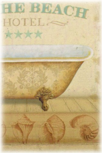 American Chateau Spa Iron Metal Bath Sign Bathroom Hotel On The Beach Wall Door Plaque by American Chateau (Image #2)