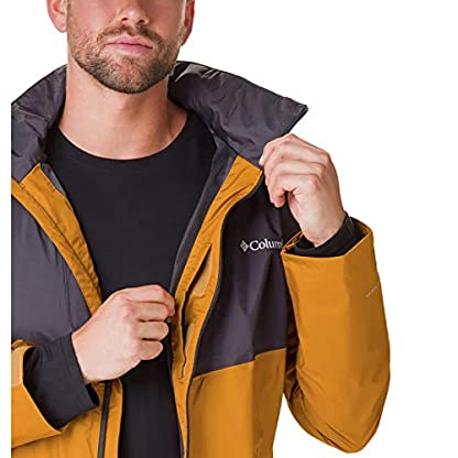 Columbia Herren Inner Limits Regenjacke, Gelb/Grau (Burnished Amber, Shark), L 7