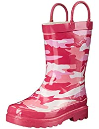 Amazon.com: Pink - Rain Boots / Outdoor: Clothing, Shoes & Jewelry