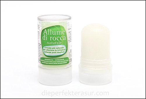 ALUM BLOCK STONE DISINFECTAND /ASTRINGENT / STYPTIC AFTER SHAVE CUT BLOOND STOPPER FOR WET SHAVES 120g / PIECES X2 SAL.SRL