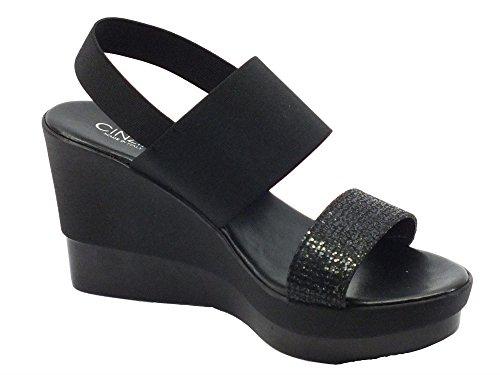 Cinzia Soft Ibc17 Nero - Sandalias de vestir de Material Sintético para mujer negro