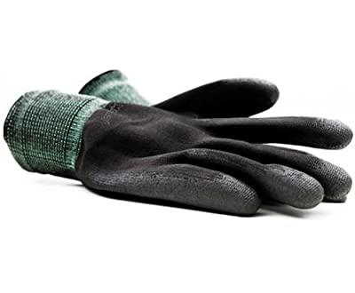 Montana Black Nylon Gloves Medium