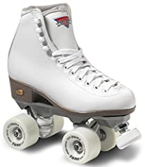 Sure-Grip Fame Roller Skate is a perfect skate for roller rink use. Features a fantastic boot with the indestructible ROCK nylon plate, Sure-Grip Fame wheels and ABEC-5 bearings. Some larger size skates might have the aluminum Super X plate (...