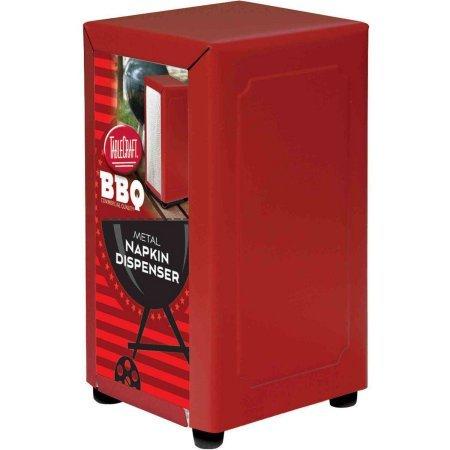 TableCraft Red 7x14'' Napkin Dispenser by Tablecraft