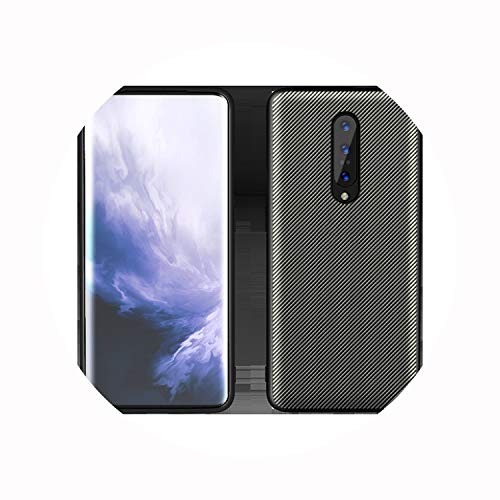 (7 Pro Case 7 Pro 6T 6 5T 5 Carbon Texture Leather Back Cover One Plus 7 6T 6 5 T Full Protective Shockproof Case,Champagne Gold,for 5)