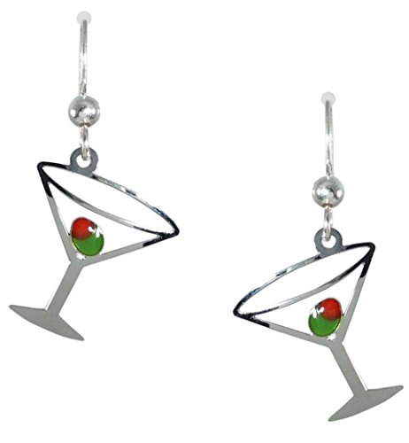 Sienna Sky Martini Glass with Olive Earrings 1038