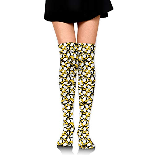 Fashion The Linux Penguin Printed Stockings, Girl¡¯s Knee High Socks For Daily Wear/Cosplay/Party/Costume?ball