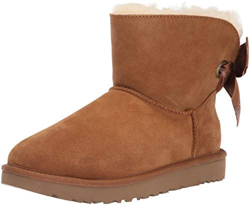 UGG Women's W Customizable Bailey Bow Mini Fashion Boot, Chestnut, 6 M -