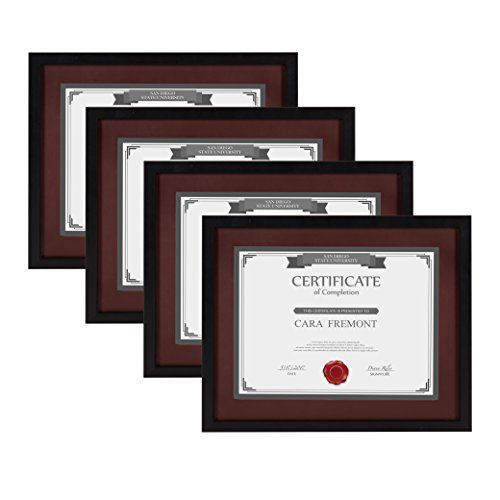 DesignOvation - LeMans 4-Pack Contemporary Wooden Document F
