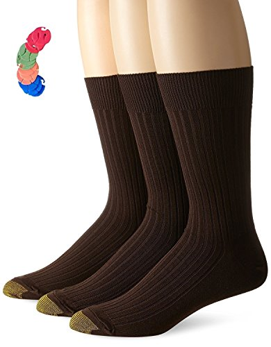 ic Canterbury Crew Socks / Free Sock Clips Included (10-13(12 PAIRS-12 SOCK CLIPS), Brown) ()