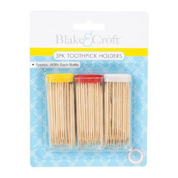 TOOTHPICK HOLDER 3PK/60PK PER BOTTLE ON 12PC MDSGSTRIP, Case Pack of 48