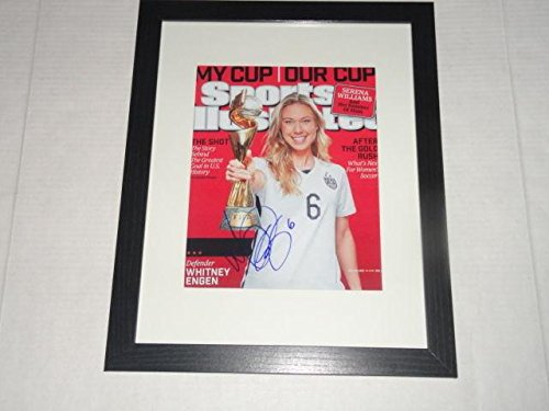 - Whitney Engen Signed Framed And Matted Sports Illustrated World Cup Cover - Autographed Soccer Magazines