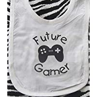 future gamer baby bib infant video game bib