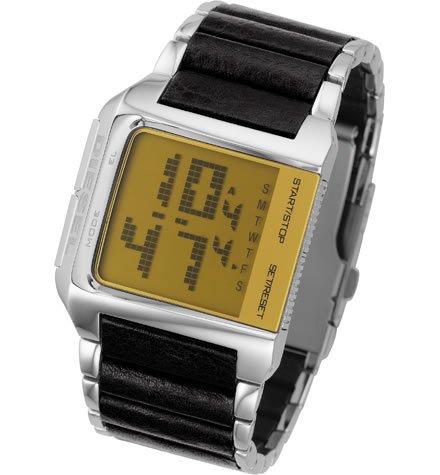 Diesel DZ7085 - Reloj digital de cuarzo para hombre con correa de acero inoxidable, color plateado: Amazon.es: Relojes