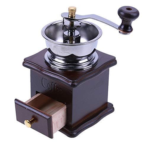 Matefield Mini Manual Coffee Mill Wood Stand Bowl Antique Hand Coffee Bean Grinder by Matefield (Image #8)
