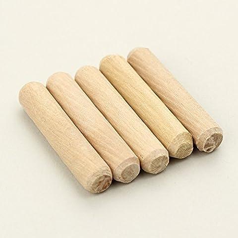 1000Pcs Per Lot 6Mm Diameter Hardwood Twill Round Furniture Fitting Wood Dowel Pin 1-6Mm Diameter