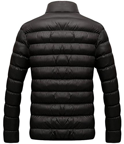 Down Coat Black Casual US Quilted EKU Warm XL Men's Stand Collar Jackets cYqwwA6ZW