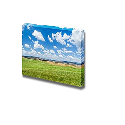 Scenic Tuscany Landscape with Rolling Hills and Beautiful cloudscape in Val d Orcia Italy - Canvas Art Wall Art - 16