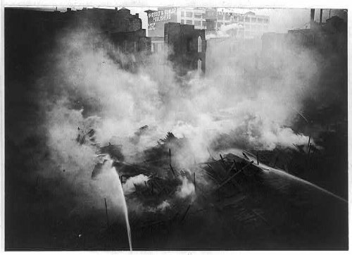 Photo: The lumber yard fire,24th Street & North River,New York City,NYC,c1911,New - Locator Infiniti Store