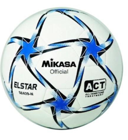 Mikasa SE-409 B Fútbol Balón Cuero Sintético Cosido Talla 4 ...