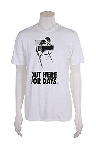 801554-100 MEN CAMP'D OUT TEE JORDAN WHITE CONCORD - Nike Camp Shirt