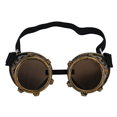 (FORUU Glasses, Steampunk Windproof DIY Interchangeable Lens Punk Props Bronze 2019 Summer Newest Arrival On Sale Beach Holiday Party Trendy Best Gifts For Mother Mom Under 5 Dollars Free Delivery)