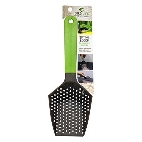 Cold Life Easy to Clean Sifting Litter Scoop Shovel for Small Pets Or Reptile Terrarium Sand Waste