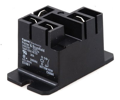 Potter and Brumfield T9AP1D52-48-03 Relay Power, T9Ap1D52-48-3, Single Pole, Single Throw, Panel Mount