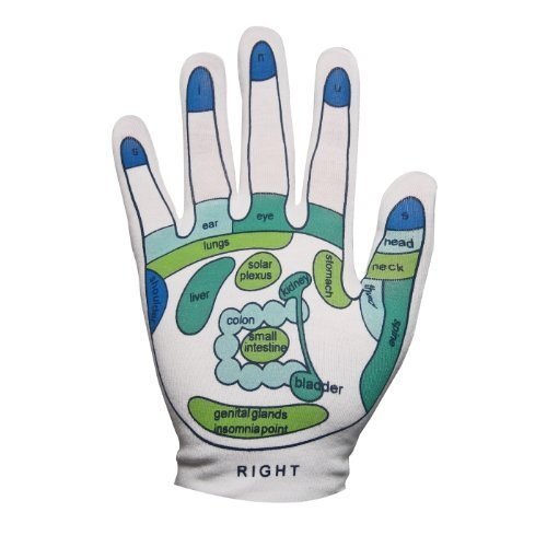 - Reflexology Gloves - Reflexology Zones Marked. 1 Pair