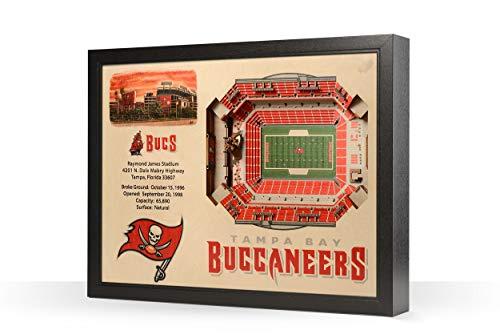 NFL Tampa Bay Buccaneers 25-Layer Stadiumviews 3D Wall Art