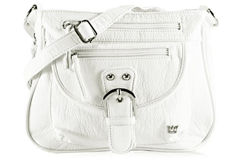 Purse King Pistol Concealed Carry Handbag (French Vanilla - White)