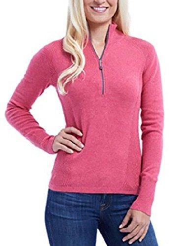 Eddie Bauer Ladies' Half Zip Pullover (Pink, XX-Large)