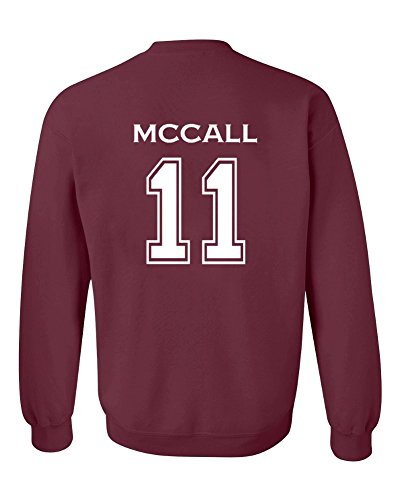 Adult Teen Wolf McCall 11 2-Sided Crew Neck Pullover- X-Large Maroon (Wolf Sweatshirt Adult)