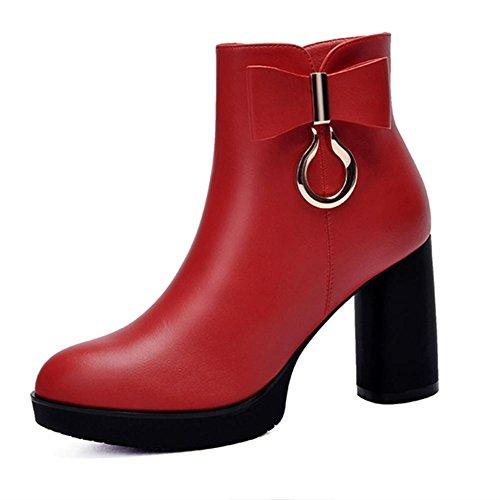 Sintético Vestido hasta de Moda Noche el y red Botines Botas Mujer Invierno Botas Otoño AIURBAG Tobillo Hasta Para Fiesta el Tobillo Zapatos Botas YxqnEw0zU