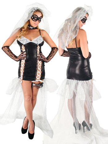 Dead Bride Sexy Plus Size Black Widow Costume - (Dead Bride Costume Plus Size)